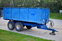 AS Marston 9 tonne tandem axle grain trailer