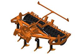 2021 BROCK Sub-V 350F 3.5m 5 or 7 leg hydraulic folding mounted subsoiler
