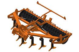 2021 BROCK Sub-V 400F 4m 7 leg hydraulic folding mounted subsoiler
