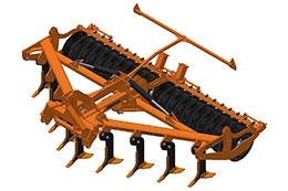 2021 BROCK Sub-V 450F 4.5m 9 leg hydraulic folding mounted low disturbance subsoiler
