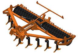 2021 BROCK Sub-V 520F 5.2m 9 leg hydraulic folding mounted subsoiler